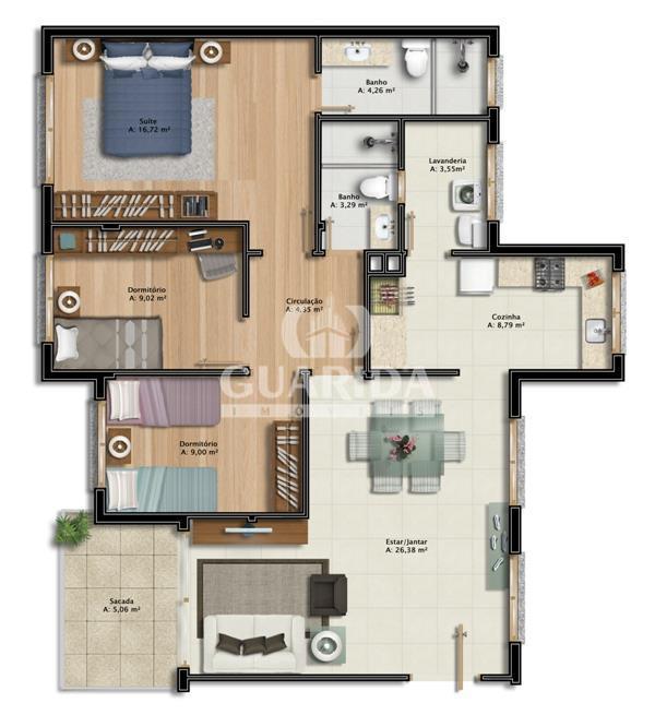 Apartamento de 3 dormitórios à venda em Vila Conceição, Porto Alegre - RS